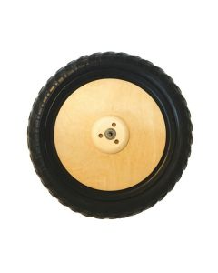 Kinderfeets Classic Balance Bike Wheel with ball bearing Natural Replacement Part